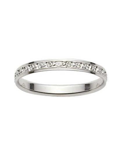 Alliance Or gris diamantée 2.5mm