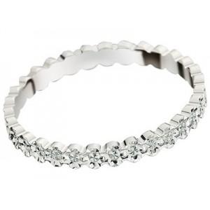 Alliance Or gris fantaisie diamantée 2.5mm