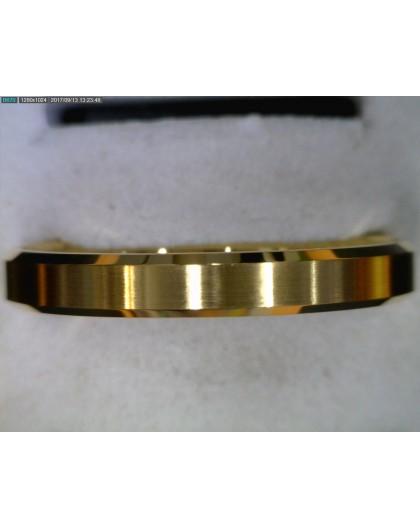 Alliance or jaune biseautée centre brossé 3.5mm