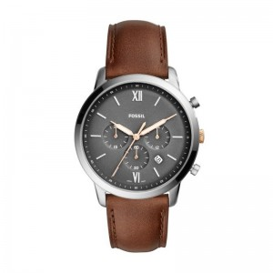 Montre Fossil homme Neutra FS5408 cuir marron