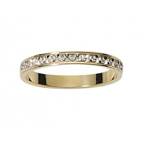 Alliance 2 Ors gris/jaune diamantée 2.5mm