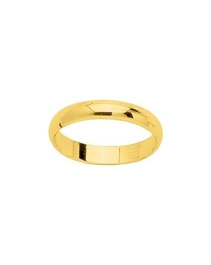 Alliance Or jaune demi jonc 3,5mm largeur