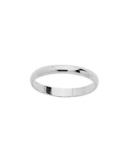 Alliance Or gris demi jonc 2,5mm largeur