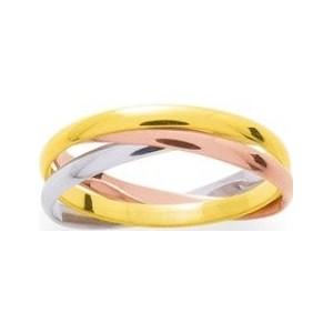 Alliance 3 ors anneaux entrelacés 2mm