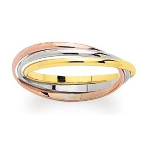 Alliance 3 ors anneaux entrelacés 1,5mm