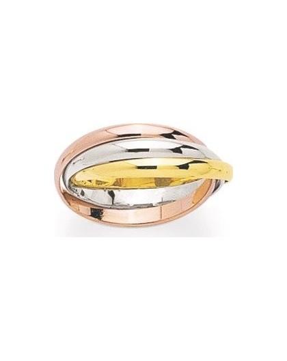 Alliance 3 ors anneaux entrelacés 2,5mm