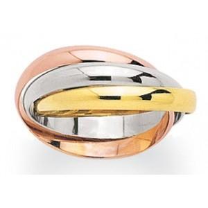 Alliance 3 ors anneaux entrelacés 3mm