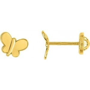 Boucles d'oreilles Or fermoir vis papillon