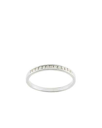Alliance Or gris serti rail diamants 0.10 Ct