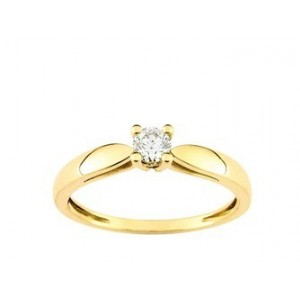 Solitaire Diamant 0.20 Ct Or jaune