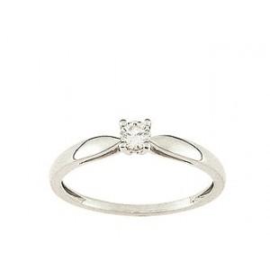 Solitaire Diamant 0.14 Ct Or gris
