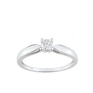 Solitaire Diamant 0.20 Ct Or gris