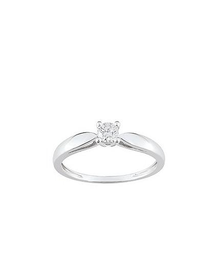 Solitaire Diamant 0.20 Ct Or gris