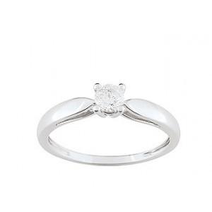 Solitaire Diamant 0.25 Ct Or gris