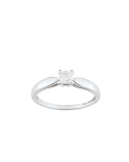Solitaire Diamant 0.25 Ct Or gris