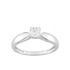 Solitaire Diamant 0.35 Ct Or gris