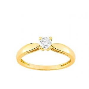 Solitaire Diamant 0.25 Ct Or jaune