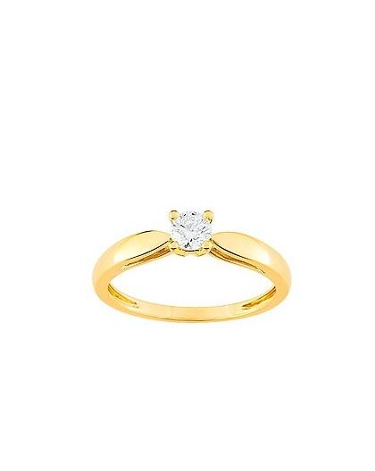 Solitaire Diamant 0.25 Ct Or jaune