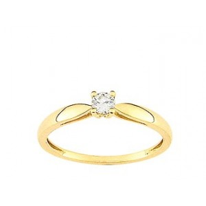 Solitaire Diamant 0.14 Ct Or jaune