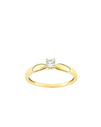 Solitaire Diamant 0.14 Ct Or jaune
