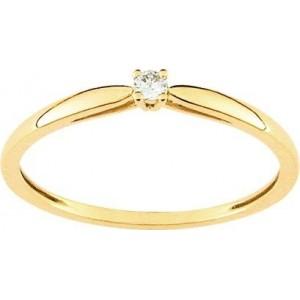 Solitaire Diamant 0.04 Ct Or jaune