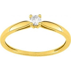 Solitaire Diamant 0.10 Ct Or jaune
