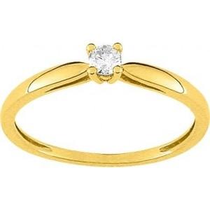 Solitaire Diamant 0.10 Ct Or jaune