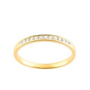 Alliance Or jaune Diamants sertis rail 0.10 Ct