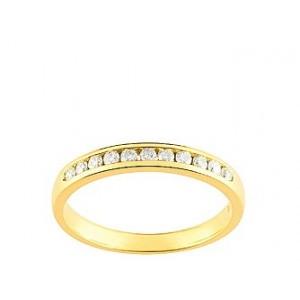 Alliance Or jaune Diamants sertis rail 0.20 Ct