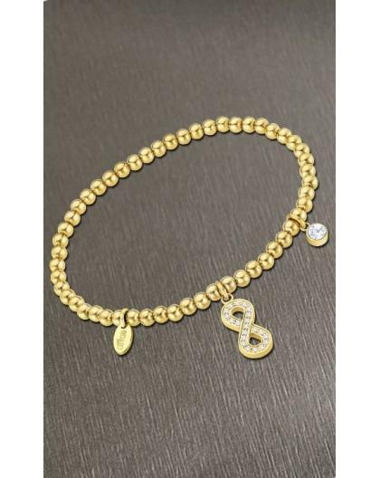 Bracelet Lotus style acier LS2172-2/7 infini doré