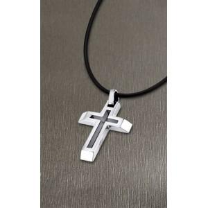 Collier Lotus Style LS1683-1/1 croix acier cordon