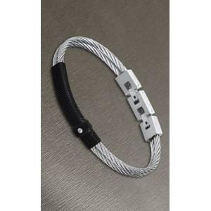 Bracelet Lotus style acier LS1739-2/2 homme cable
