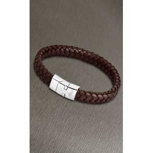 Bracelet Lotus style acier LS1701-2/1 cuir marron
