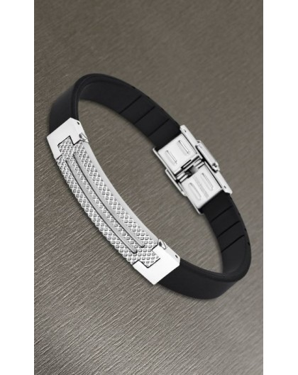 Bracelet Lotus style acier LS1797-2/1 silicone