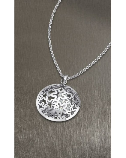 Collier Lotus Style LS1666-1/1 strass médaillon