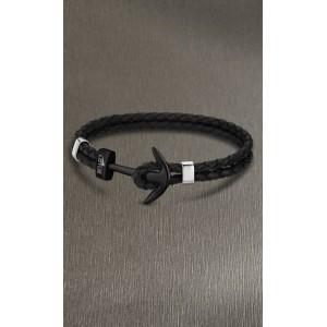 Bracelet Lotus style acier LS1832-2/6 ancre noir
