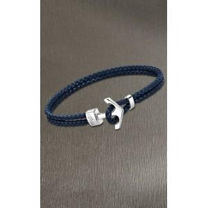 Bracelet Lotus style LS2075-2/3 cuir bleu