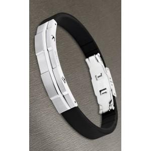 Bracelet Lotus style acier LS1316-2/1 silicone