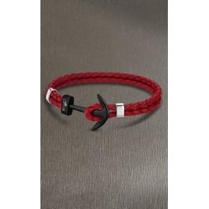 Bracelet Lotus style acier LS1832-2/9 ancre rouge
