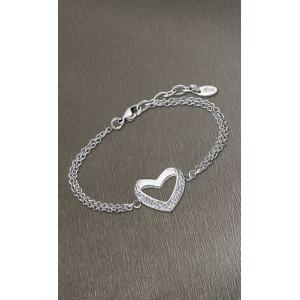 Bracelet Lotus Style LS1944-2/1 coeur strass