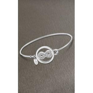 Bracelet jonc Lotus style LS2014-2/5 infini strass