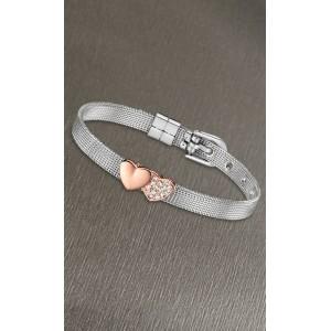 Bracelet Lotus style LS2087-2/3 coeurs rosés