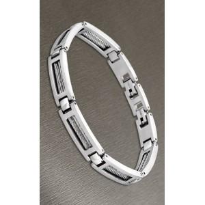 Bracelet Lotus style acier LS1507-2/1 cable