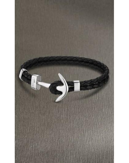 Bracelet Lotus style acier LS1832-2/1 ancre noir