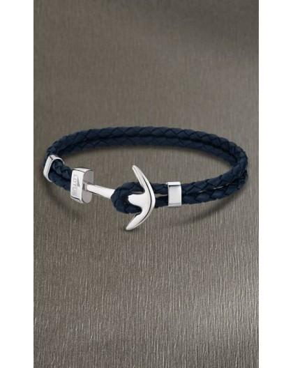 Bracelet Lotus style acier LS1832-2/4 ancre bleu