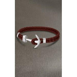 Bracelet Lotus style acier LS1832-2/C ancre rouge