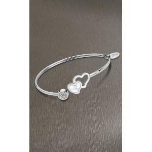 Bracelet Lotus style acier LS1848-2/1 coeur nacre