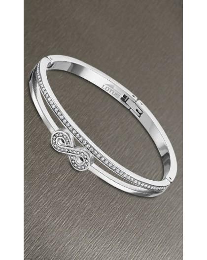 Bracelet jonc Lotus style LS2088-2/2 infini strass