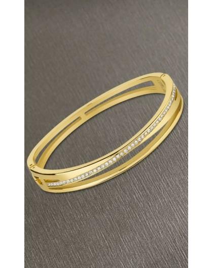 Bracelet Lotus style LS2113-2/2 doré strass croisé