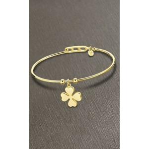 Bracelet Lotus style LS2120-2/1 trèfle doré